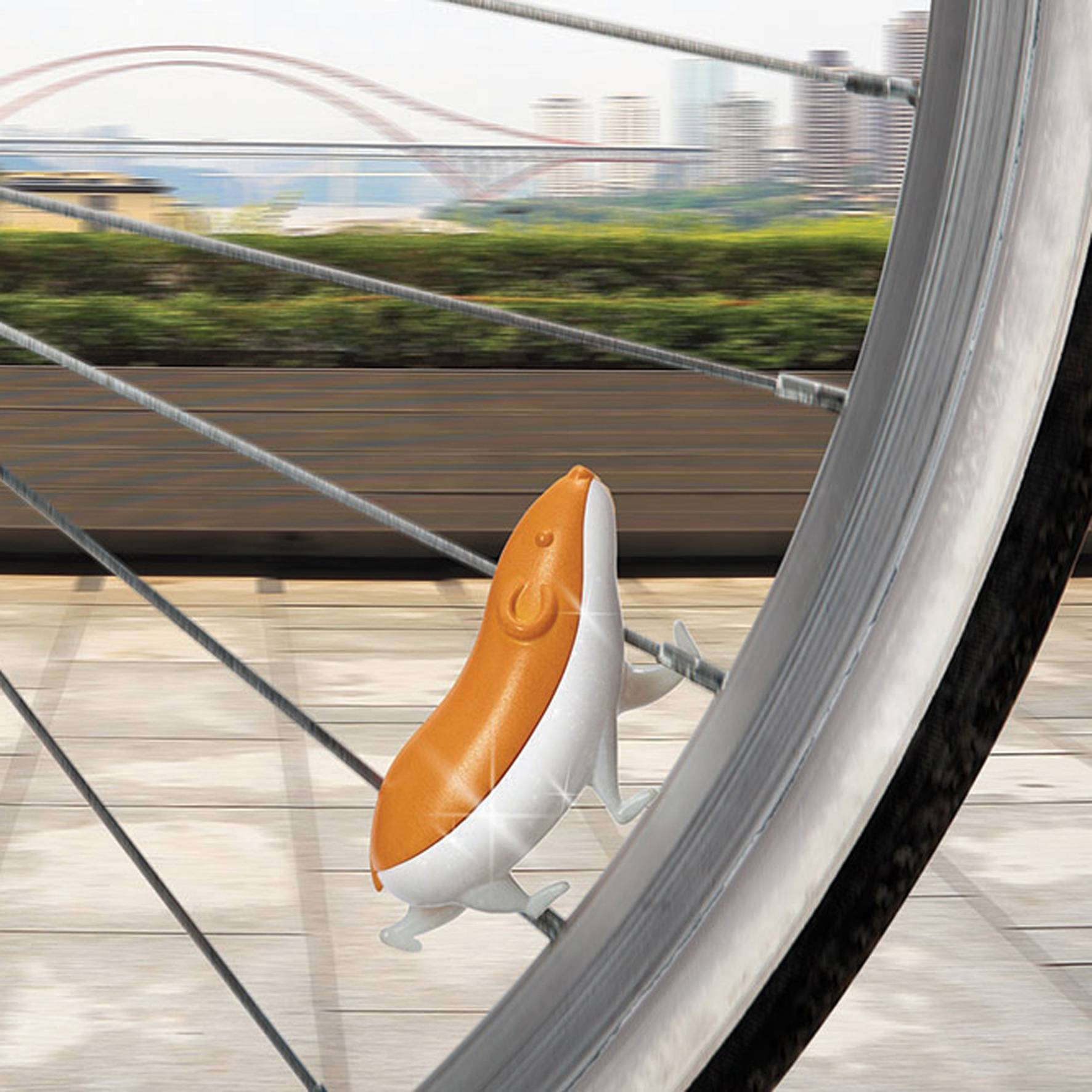 Speedy Un Hamster Réfléchissant A Accrocher à Votre Vélo