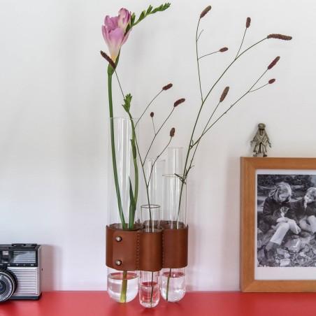 Forget-me-not 2 - Vase multi-tubes en verre