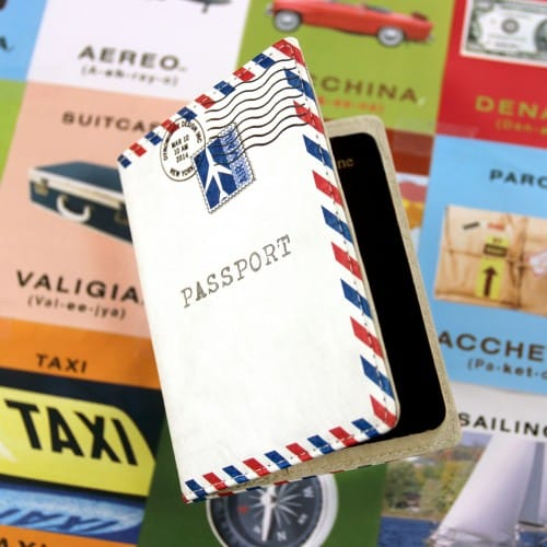 Mighty Passport cover - Airmail