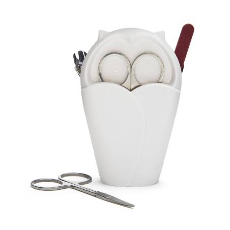 Archie Blanc - ciseaux à ongle avec pot