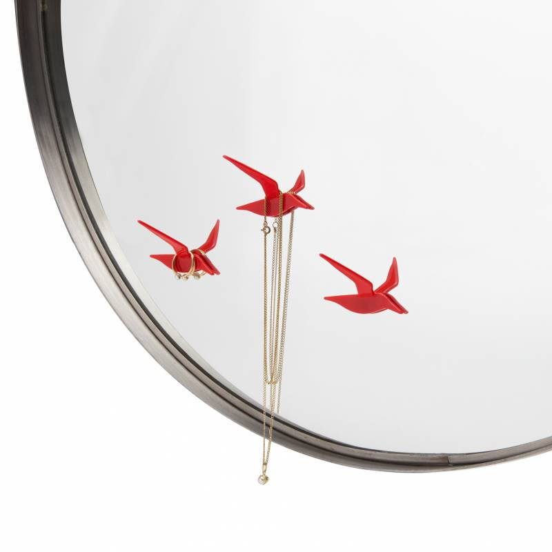 fly by oiseau servant de crochet double face pour mirroir. Black Bedroom Furniture Sets. Home Design Ideas