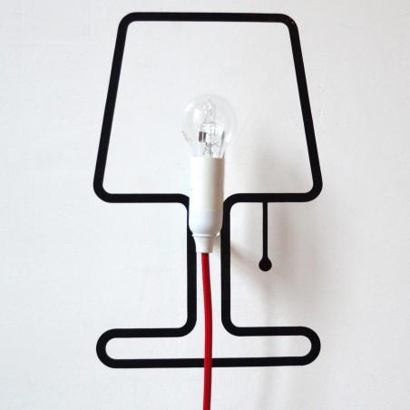 Lampe TINY - icone de lampe en adhésif