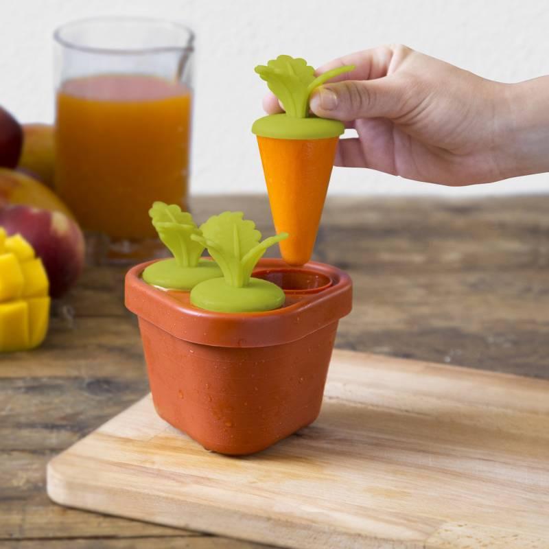 veggies pop moule glace en forme de carotte. Black Bedroom Furniture Sets. Home Design Ideas