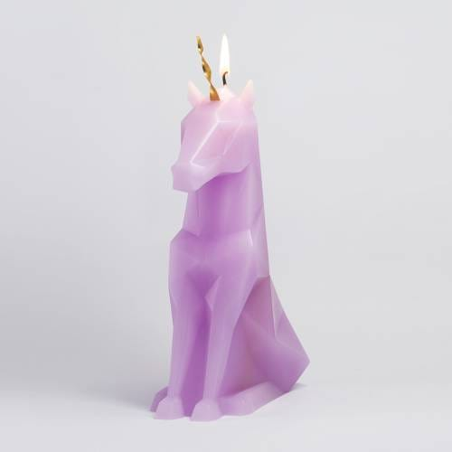 Pyropet - Einar Bougie licorne avec squelette