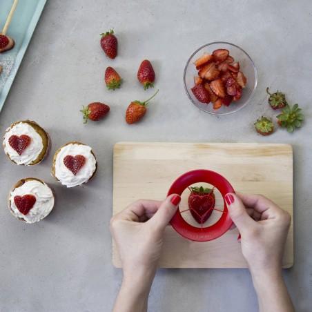 2 pour 1 - Sweet Heart - coupe fraise en cœur