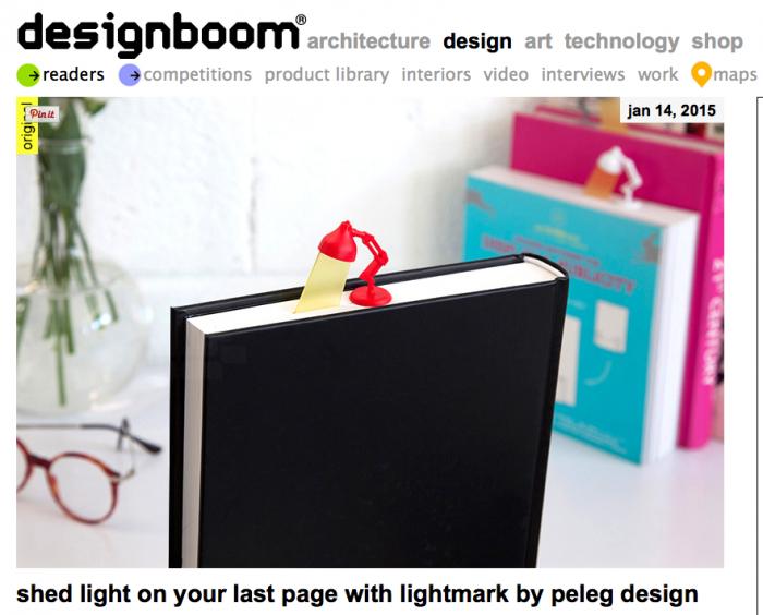 Lightmark en avant première sur Designboom