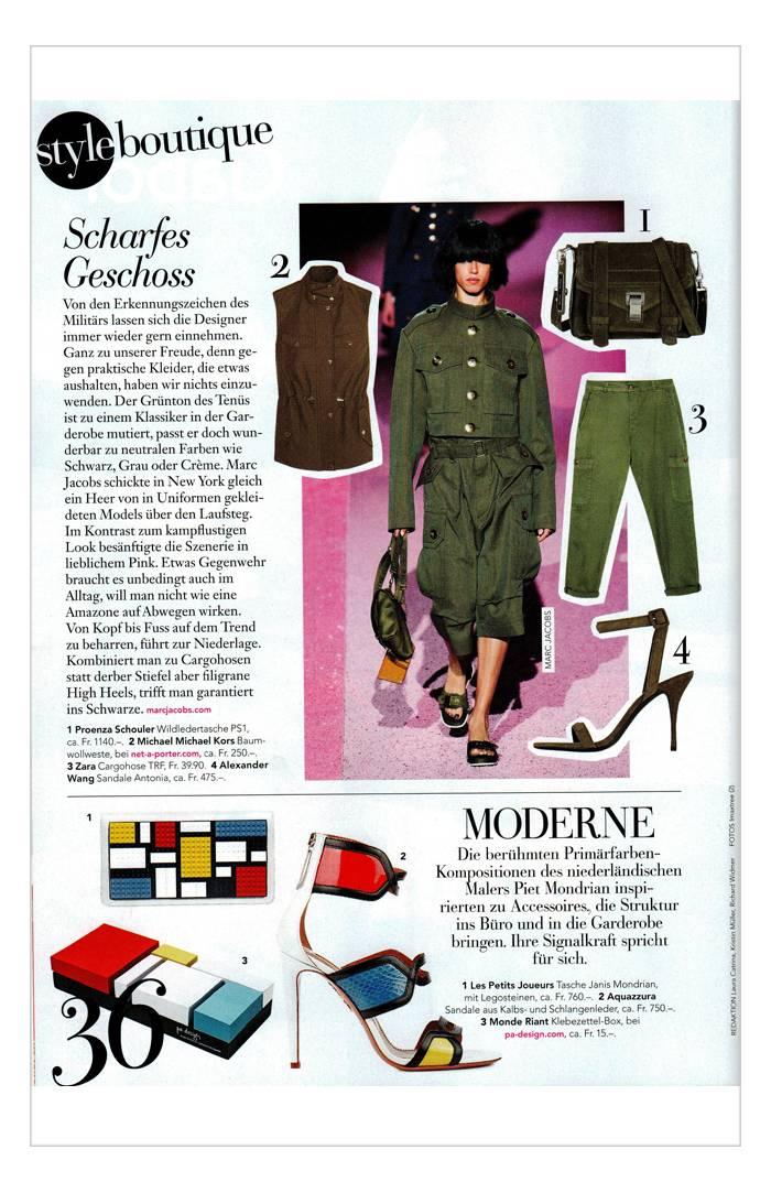 Schweizer Illustrierte Style - Avril 2015