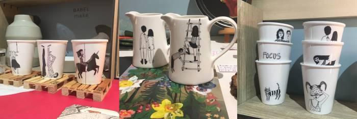 New à Pa Design boutique, les jolies tasses de Helen B. 16,00€ pièce.